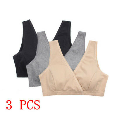 Women Nursing Bra Lot 2/3Pcs Maternity Cotton Tank Breastfeeding Pregnancy Sleep