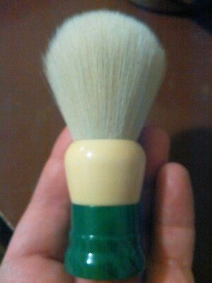vintage ever ready shaving brush green marbled #100 with new knot
