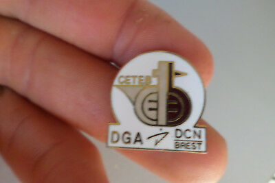 badge pin s CETEB DGA DCN BREST militaire marine sous marin defense nationale