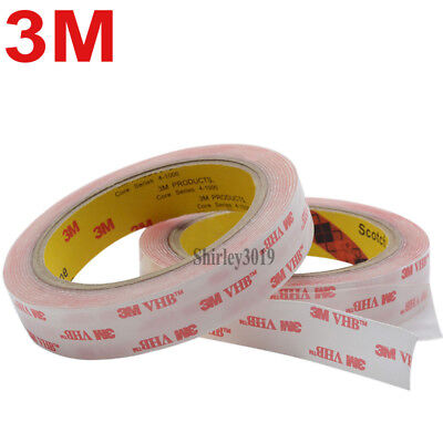 3M VHB 4910 Clear Double-sided Acrylic Foam Tape Automotive length 3 Meter (roll