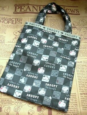 Japan Peanuts Snoopy Mini Carrying Bag - Plaid FREE SHIPPING