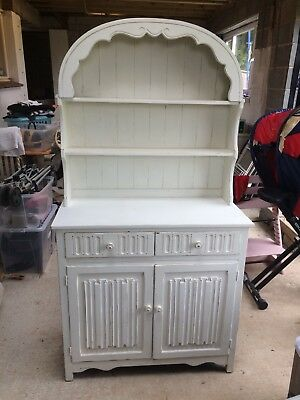 Beautiful Shabby Chic Welsh Dresser Unit Old White Solid Wood