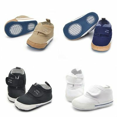 Baby Towddler Crib Boots fashion Shoes Canvas Soft Sole Boys Ankle Sneaker 9-12M