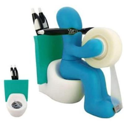 FUNNY Toilet Paper Holders GIFT Supply Station Desk Accessory By