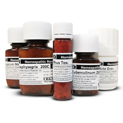 Homeopathic Remedy / Homeopathy Medicine 6c, 30c, 200c & 1M -25 gram bottle size