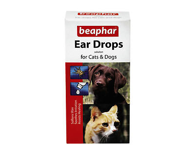 Dog Cat Ear Drops Insecticidal by Beaphar Kills Mites 15ml Dogs and Cats