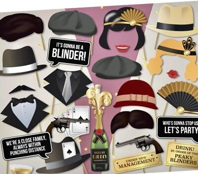 Ready Made PEAKY BLINDERS Photo Booth Props Brummie Boys Party Theme  The Mob