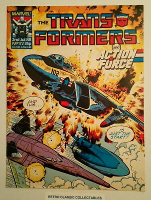 Marvel UK - The Transformers & Action Force - Comic - No.172 - 2nd July 1988