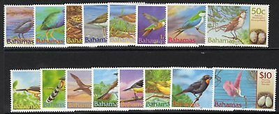 Bahamas Sg1249/64 2001 Birds & Their Eggs Mnh