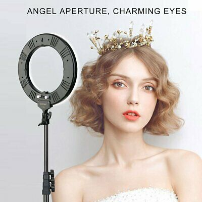 Double Way Dimmable LED Ring Light Photo ZOMEI 14 Inch Photographic Lamp HM