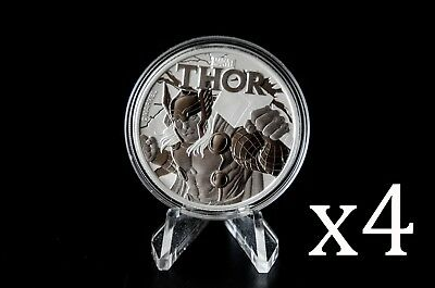 2018 Perth Mint Marvel 1oz Silver Thor Bullion Coin x 4 (4 coins) SKU01