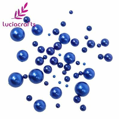 Lucia Crafts 288pcs Mixed Size ABS Imitation Pearls Half Round Flatback Beads Fo