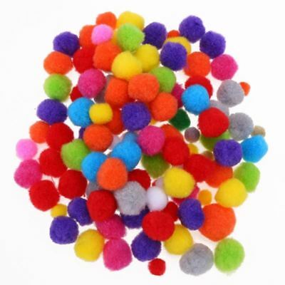 10-30mm Mix Color Fluffy Ball Pom Pom Ball Hair Ball Sewing Garland Craft Home D