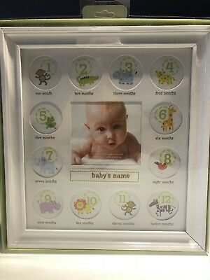 NEW Mark the Milestones Stepping Stones First Year Baby Picture Frame 12 Months