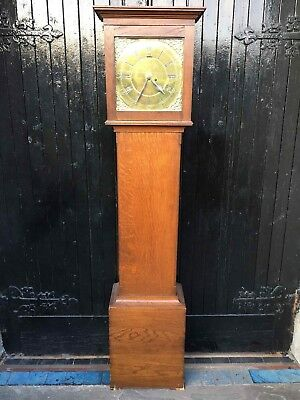 18th Century Brass Face Longcase Clock - Delivery Available