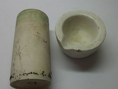 Antique Chemistry Lab  Porcelain Crucible Beaker Coors USA #5 Apothecary