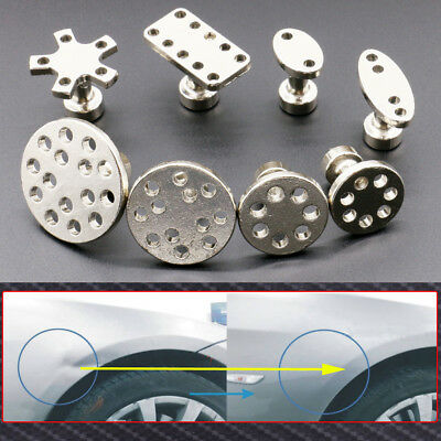 8pcs Car Auto Zinc alloy PDR Puller Tabs Body Paintless Dent Repair Removal Tool
