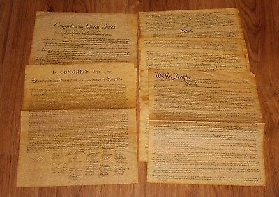 Declaration Of Independence Bill Of Rights Preamble To Constitution Reproduction