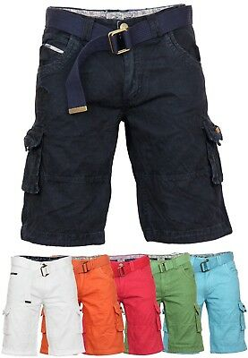 Geographical Norway Men/'s Bermuda Shorts Belt Summer Cargo Trousers Knee Length