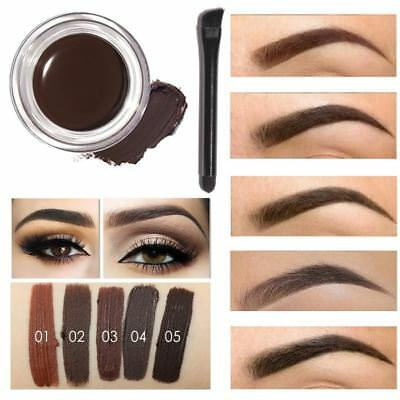 Professional Eye Brow Tint Makeup Tool Kit Waterproof High Brow 5 Color Pigment