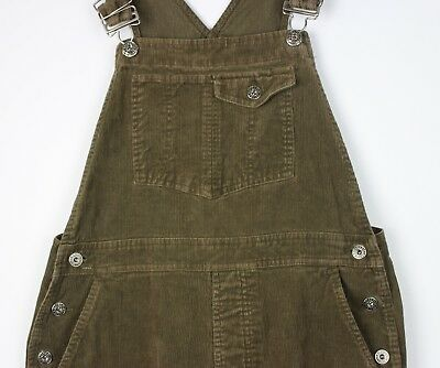 "VTG 90's LADIES BROWN GAP CORDUROY DUNGAREES OVERALLS FESTIVAL W26-32"" L28"" MED"