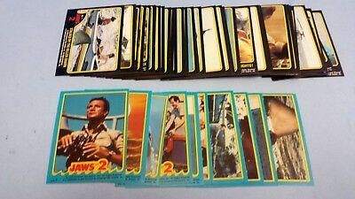 Jaws II 2 Complete Card Set Including Stickers 59 + 11 Topps 1978  NM-MT