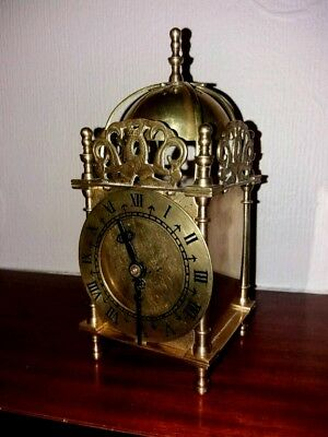 Vintage Smiths Quartz Solid Brass Lantern Clock For A Nhs Nurses Support Charity