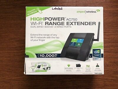 WI-FI RANGE EXTENDER~Amped Wireless High Power Touch Screen~IMPROVE CONNECTIVITY
