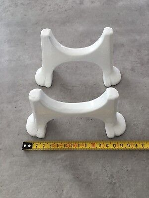 Cast Iron Radiator Feet (Claw shape) White or Raw Cast  Sold In Pairs