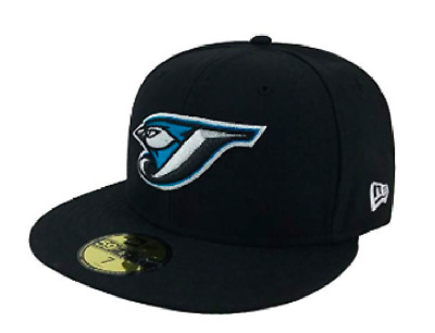 05f9cad9de6 Men s Toronto Blue Jays Retro Black Cooperstown 59fifty Fitted New Era Hat  7 ...