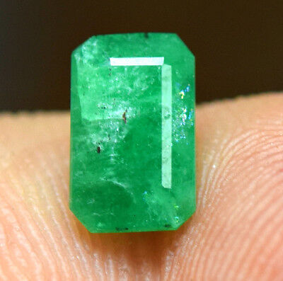 0.70 CRT Transparent top quality top green color Emerald cut gemstone from @AFG