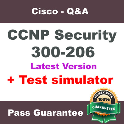 Cisco CCNP Security Exam Dump for 300-206 SENSS - Q&A PDF + VCE Simulator (2018)