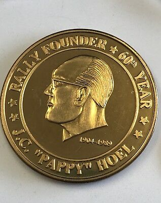 60th STURGIS 2000 COIN - Gypsy Classic Motorcycle Rally - PAPPY HOEL FOUNDER