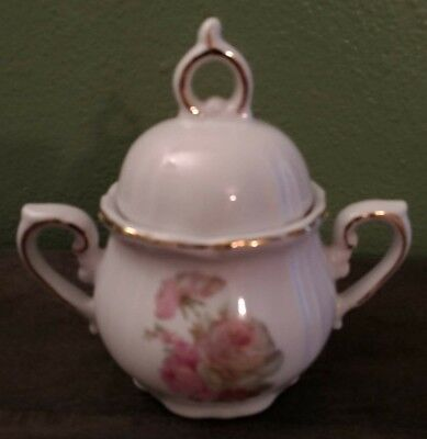 Vintage Winrose Collection Hand Decorated Porcelain Sugar Bowl With Lid ROSES