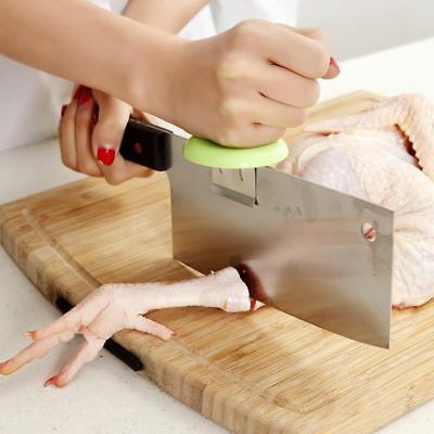 1PC Stainless Steel Kitchen Knife Cap Helper for Chopping Cutting Meat Fish Chic