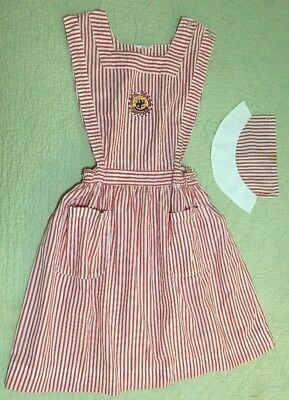 Vintage Candy Striper Uniform & Cap Fashion Seal Uniforms 1960's Volunteer