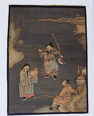 Rare Chinese Antique Kesi Kossu Scenic Small Tapestry Embroidery
