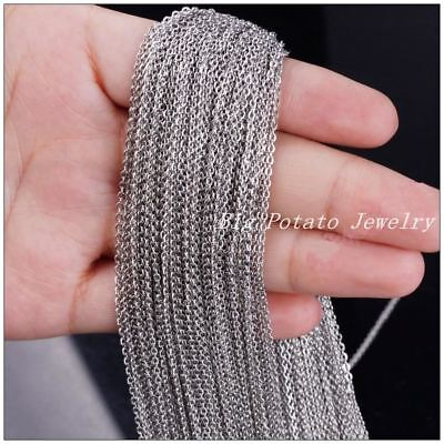 316L Stainless Steel 2mm/3mm Silver Cross Tone Chain DIY Jewelry Finding For Pen