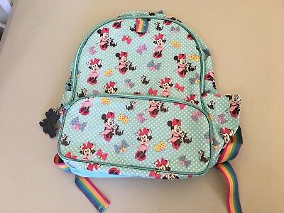 NWT Disney Store Minnie Mouse Girls Backpack School Bag