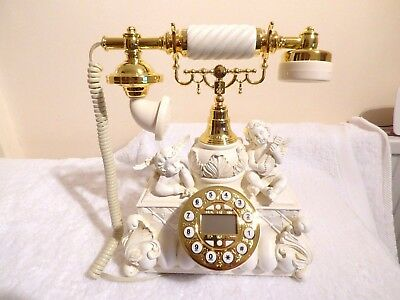 vintage antique style retro telephone cherubs