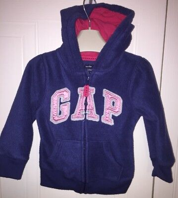 Girls Age 18-24 Months - Gap Hooded Zip Up Top