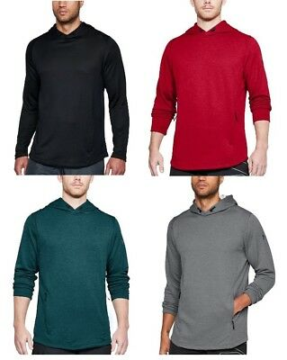 Under Armour Men's French Terry Tech Popover Lightweight Hoodie Train - New $55