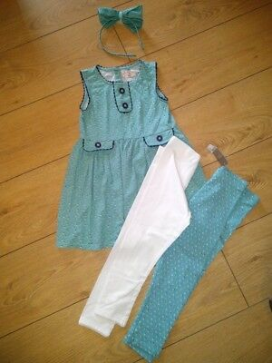 NEXT Girls Outfit Set Dress Headband (used) & Matching Leggings (new) Age 3-4