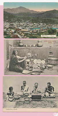 p165 | 3 Vintage Postcards of India, before 1920, mint | ruby mines, goldsmiths