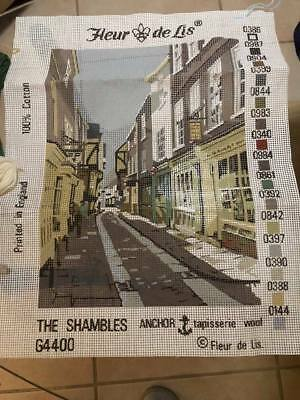 TAPESTRY CANVAS The Shambles PLUS WOOL Unworked FREE POST