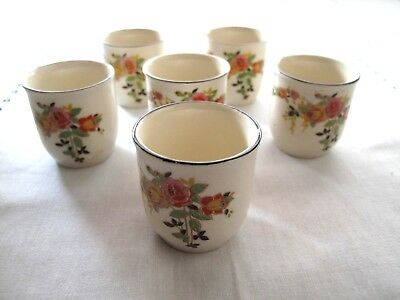 Antique Royal Doulton  Rosslyn D5399 6 Perfect Egg Cups