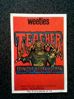 Vintage Weeties Teacher From The Blck Lagoon Monsters No 6 Nabisco