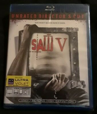 Saw V (Blu-ray Disc, 2009, 2-Disc Set, Unrated Director's Cut)