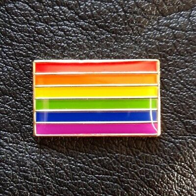 LGBTI Gay Rainbow Pride Flag Enamel Pin