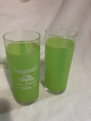 Seagram's Lime Twisted Gin High Ball Glasses 11 pack